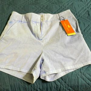 NWT SOUTHERN MARSH blue ladies shorts size 6.
